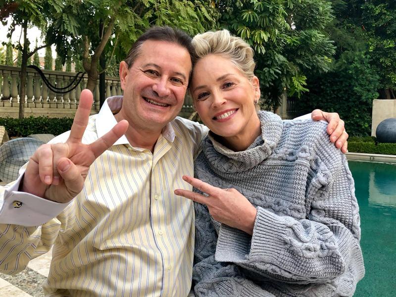 Emmanuel Itier & Sharon Stone Bermuda Oct 2018