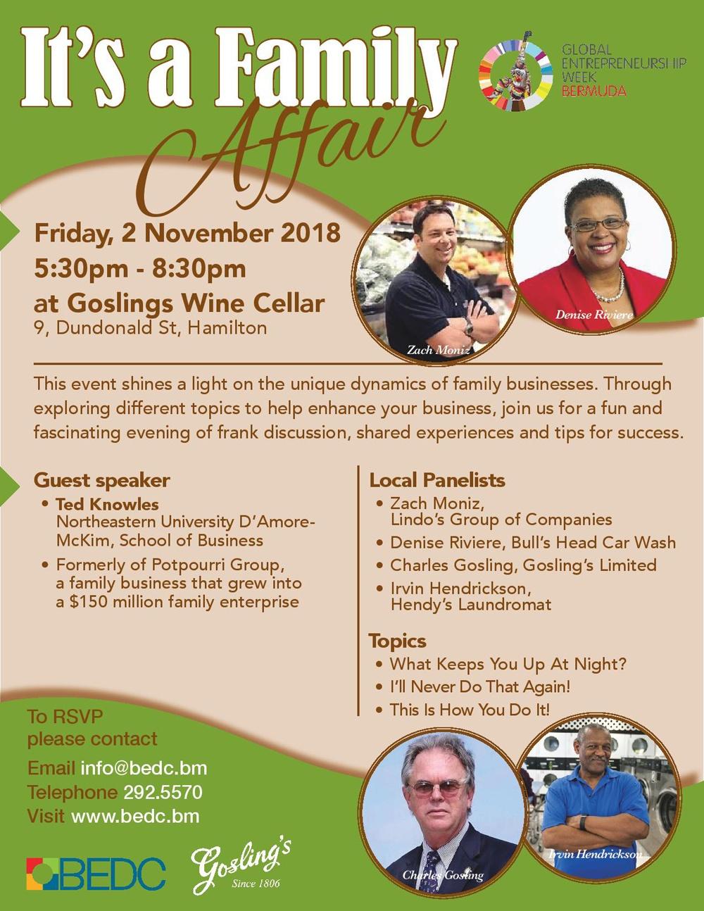 Family Affair Event - Bermuda Oct 30 2018