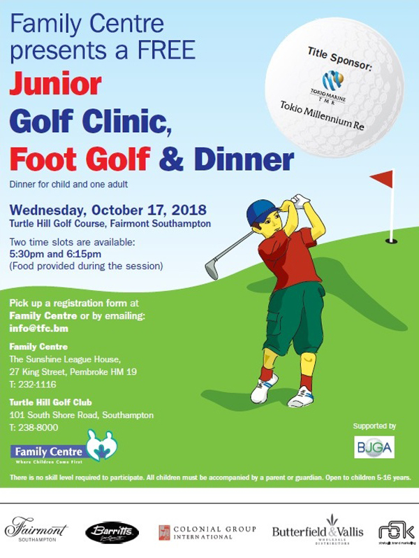 Family Centre Golf Clinic Bermuda Oct 2018