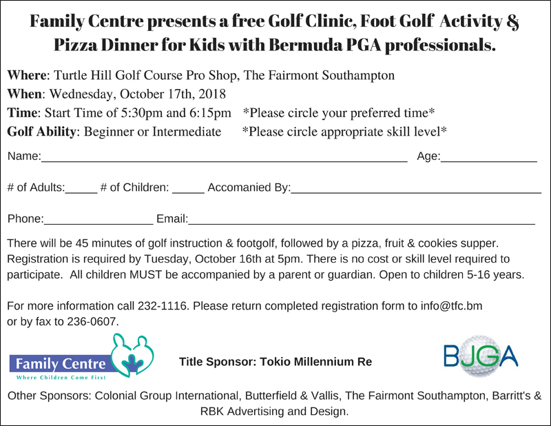 Family Centre presents a free Golf Clinic, Foot Golf Activity &