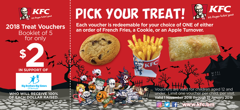 KFC Halloween Voucher Bermuda October 2018