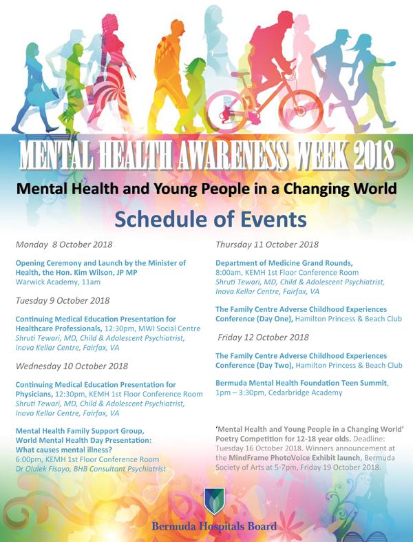 MHAW Schedule of Events Bermuda Oct 2018