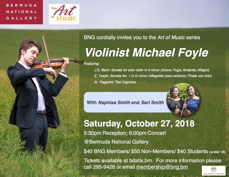 Michael Foyle Art of Music Bermuda Oct 17 2018