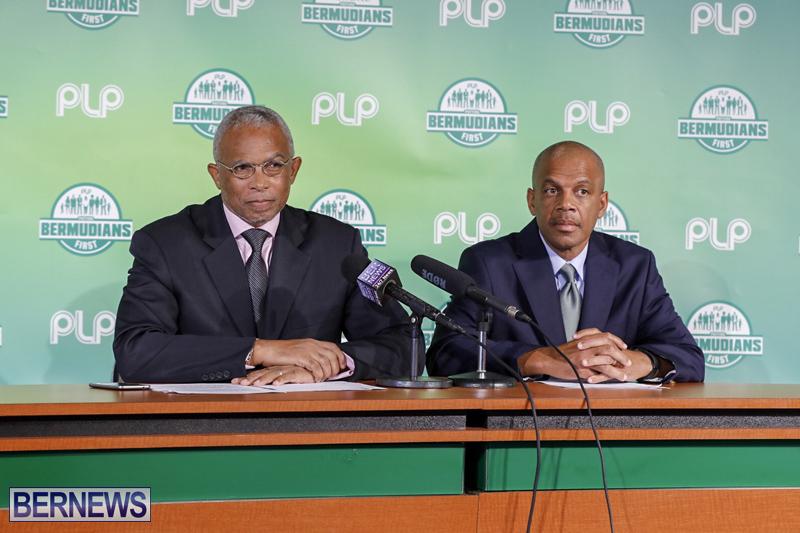 PLP press conference Bermuda October 2018