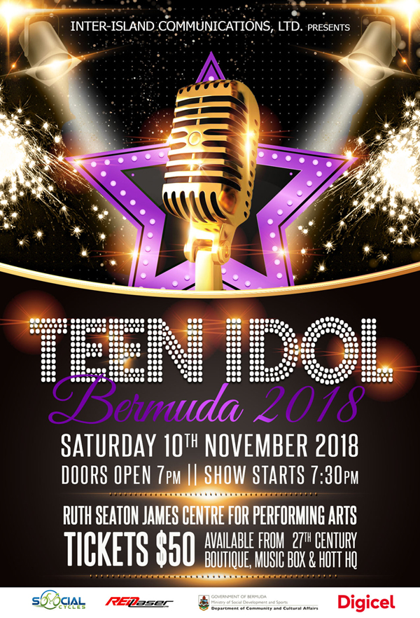 Teen Idol Poster Bermuda Oct 17 2018