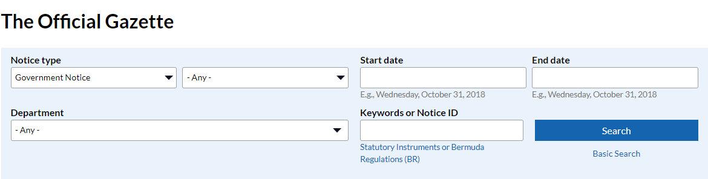 The Official Gazette  Government of Bermuda - Google Chrome 10312018 44618 PM