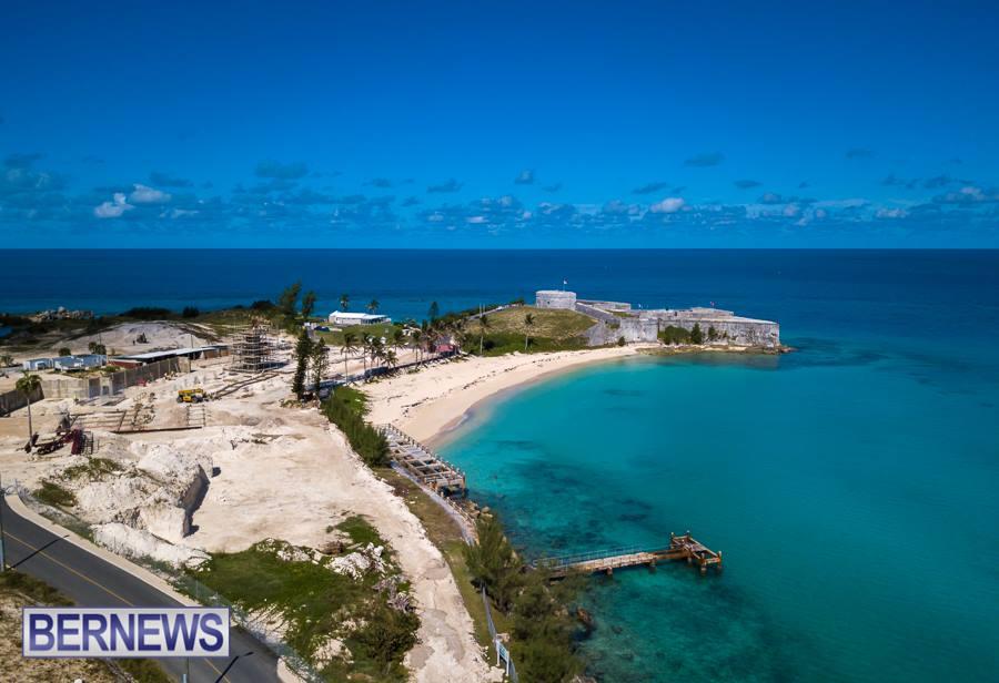 st regis bermuda hotel site progress october 2018