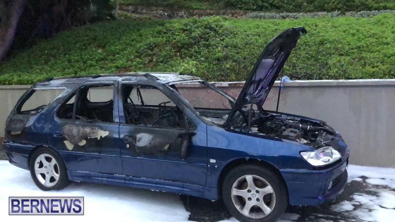Car Fire Bermuda, November 20 2018
