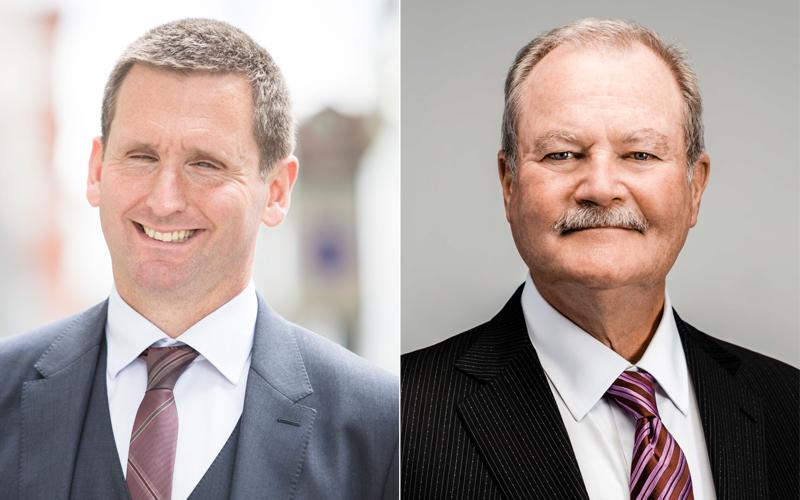 Chris Holmes and Brian Duperreault Bermuda Nov 2018
