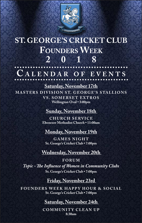 Founder's Week Bermuda November 2018