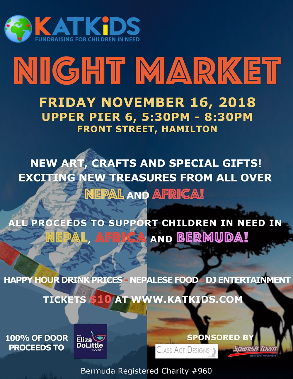 KATKiDS Night Market Bermuda Nov 15 2018