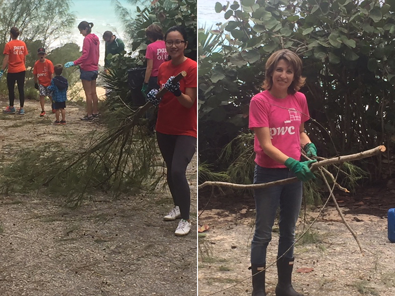 PwC Volunteers Helps Southlands Park  Bermuda Nov 26 2018 (3)