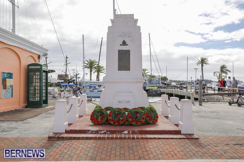 RAA wreath laying service Bermuda November 4 2018 (1)
