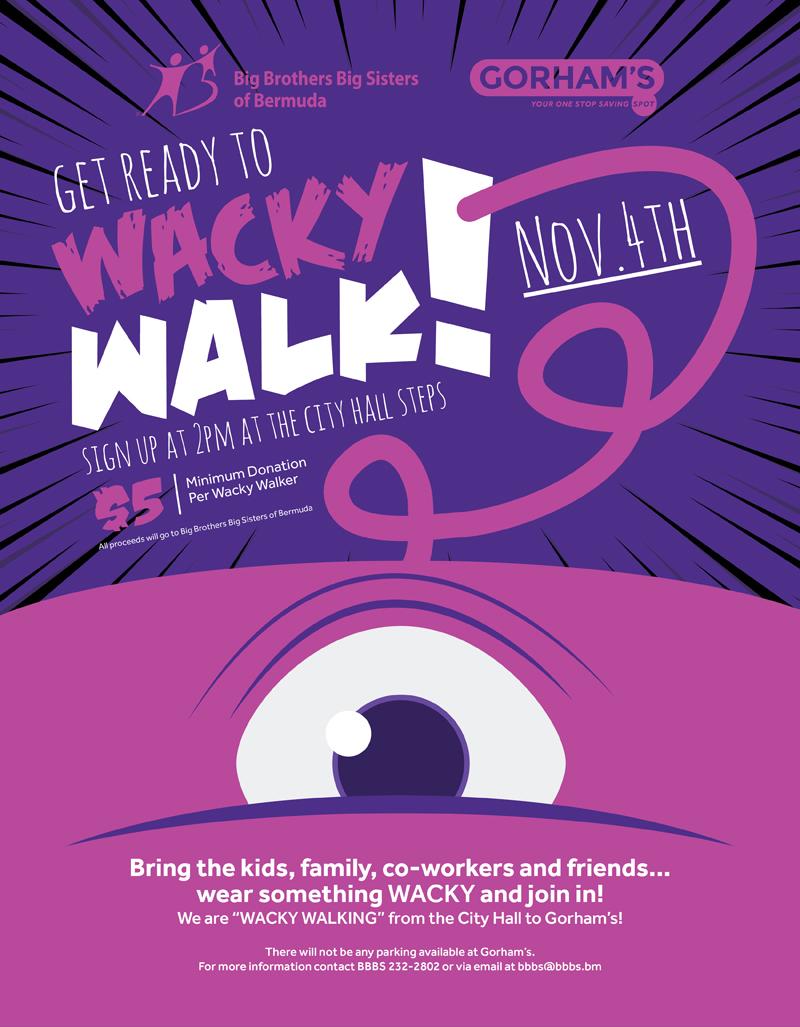 Wacky Walk 2018 Poster Bermuda Nov 1 2018