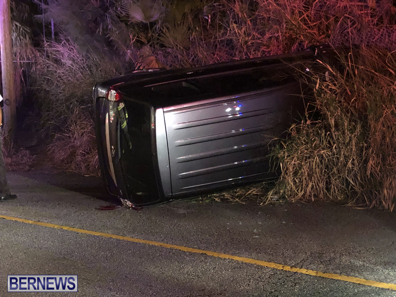 car overturned Bermuda Nov 11 2018