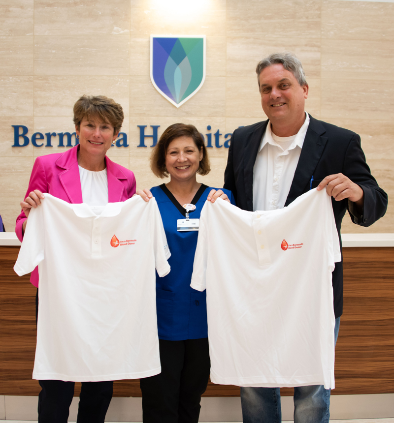 Blood Donor Polo Shirts Bermuda Dec 2018
