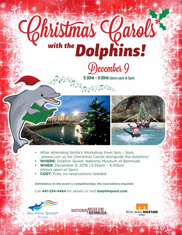 Carols With Dolphins Bermuda December 2018