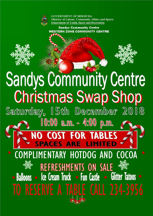 Christmas Swap Shop Bermuda December 2018