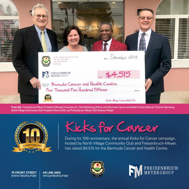 FMG & NVCC Kicks for Cancer Bermuda Dec 2018
