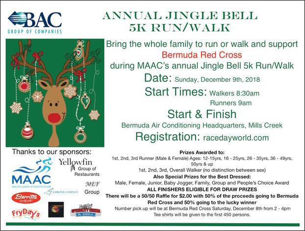 Jingle Bell 5k RunWalk Bermuda Dec 2018