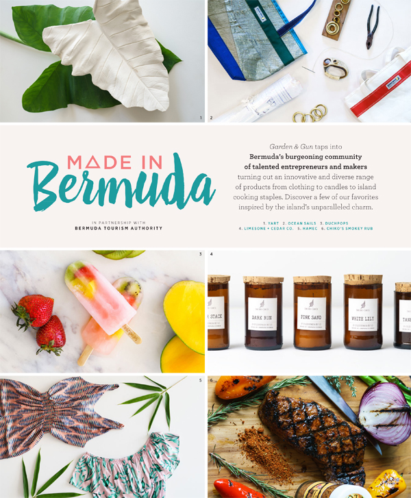 Made in Bermuda Page 1 Garden and Gun magazine