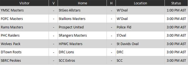Masters Division Schedule Bermuda Dec 2018--
