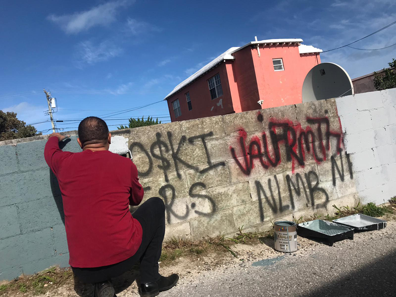 North Terrace Pembroke Gang Graffiti Bermuda Dec 2018 (1)