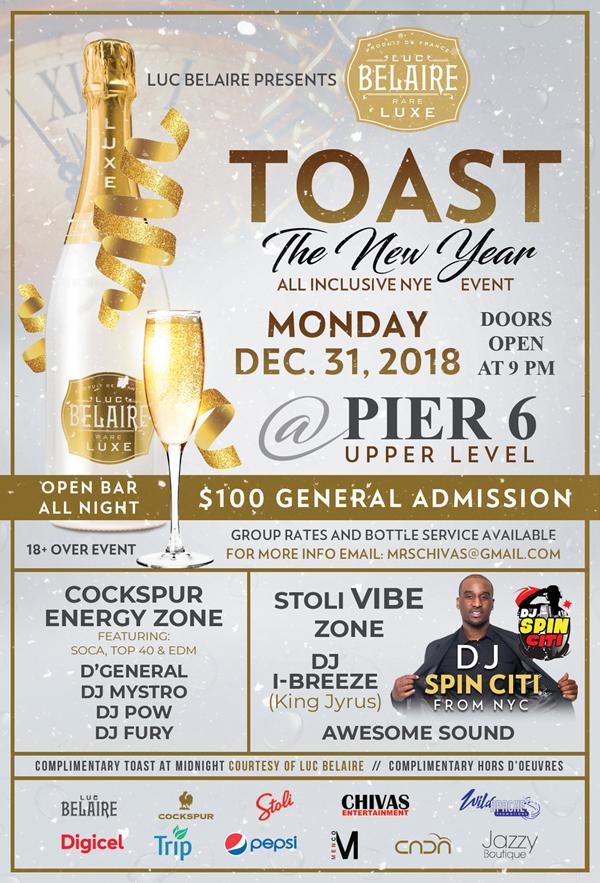Toast the New Year Bermuda Dec 2018