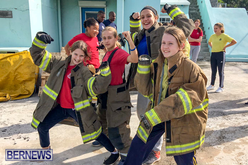 BHS Students Visit Hamilton Fire Station Bermuda, January 31 2019-6323b