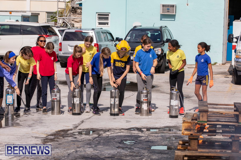 BHS Students Visit Hamilton Fire Station Bermuda, January 31 2019-6324