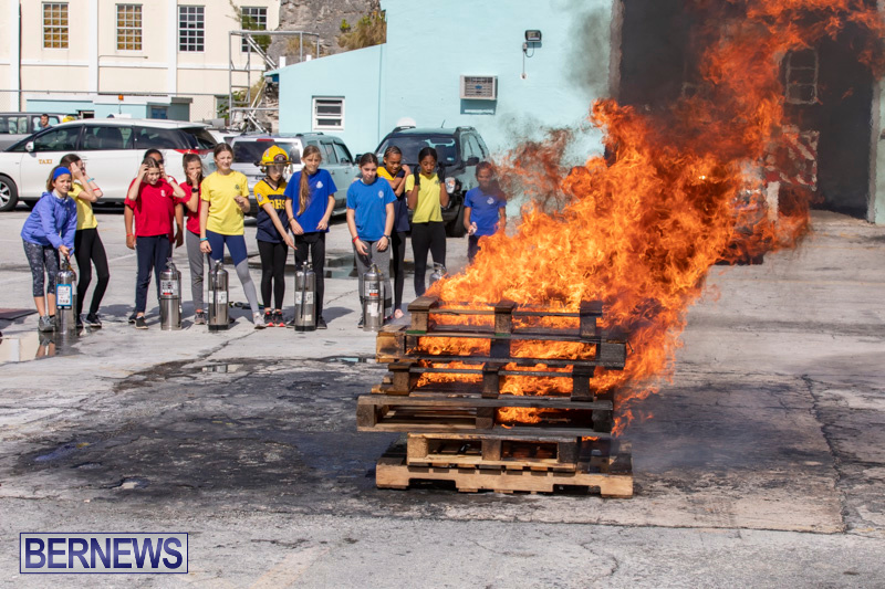 BHS Students Visit Hamilton Fire Station Bermuda, January 31 2019-6325