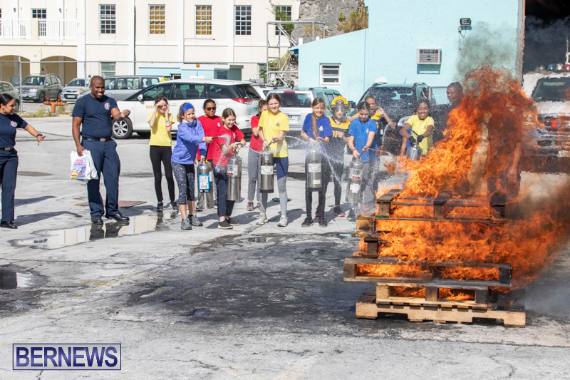 BHS Students Visit Hamilton Fire Station Bermuda, January 31 2019-6340