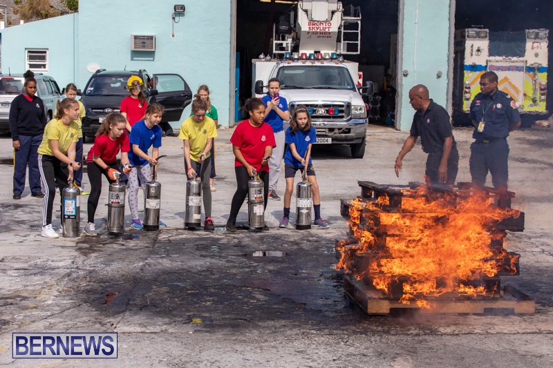 BHS Students Visit Hamilton Fire Station Bermuda, January 31 2019-6369
