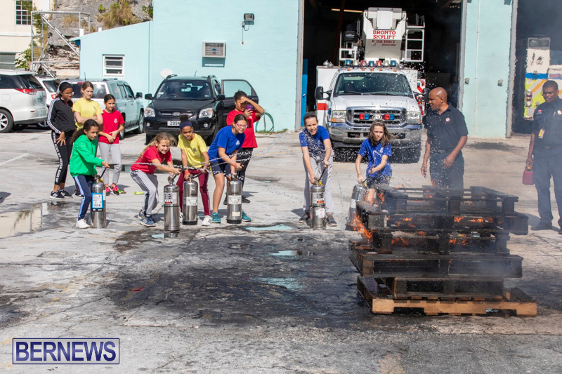 BHS Students Visit Hamilton Fire Station Bermuda, January 31 2019-6392