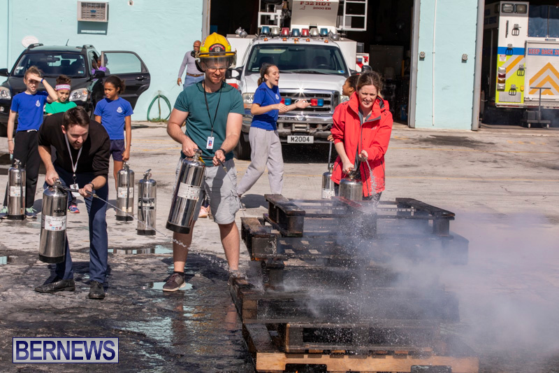 BHS Students Visit Hamilton Fire Station Bermuda, January 31 2019-6396