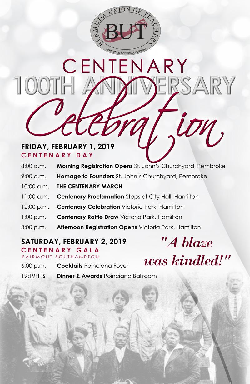 BUT Centenary 100th Anniversary Bermuda Jan 25 2019