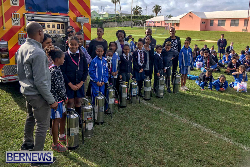 Bermuda Fire and Rescue Service demonstration at Elliot Primary School Careers Day, January 24 2019-53-5