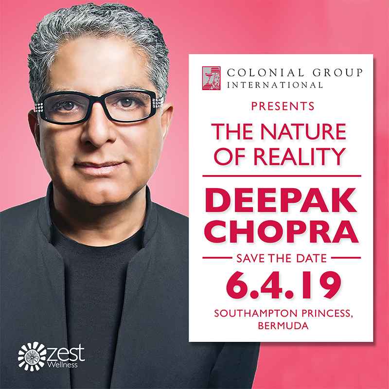 Deepak Chopra Bermuda Jan 31 2019