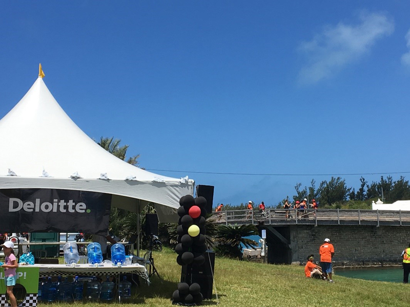 Deloitte Bermuda's 2018 waterstop at Somerset Bridge (1)