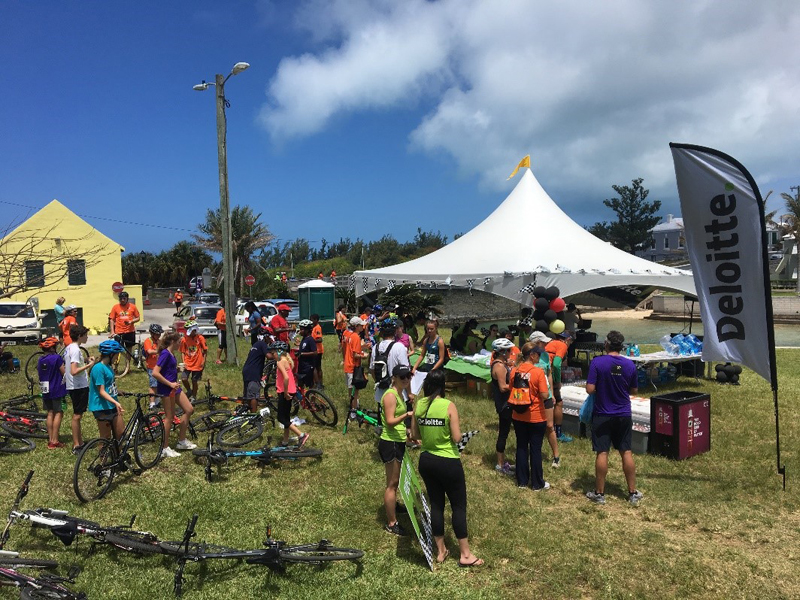 Deloitte Bermuda's 2018 waterstop at Somerset Bridge (2)