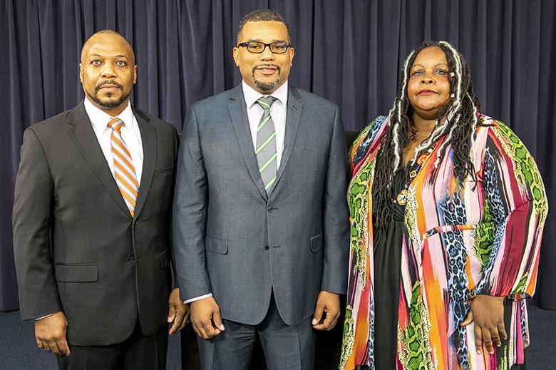 Diallo Rabain and Dr Tim Jackson Press Conference Bermuda Jan 14 2019