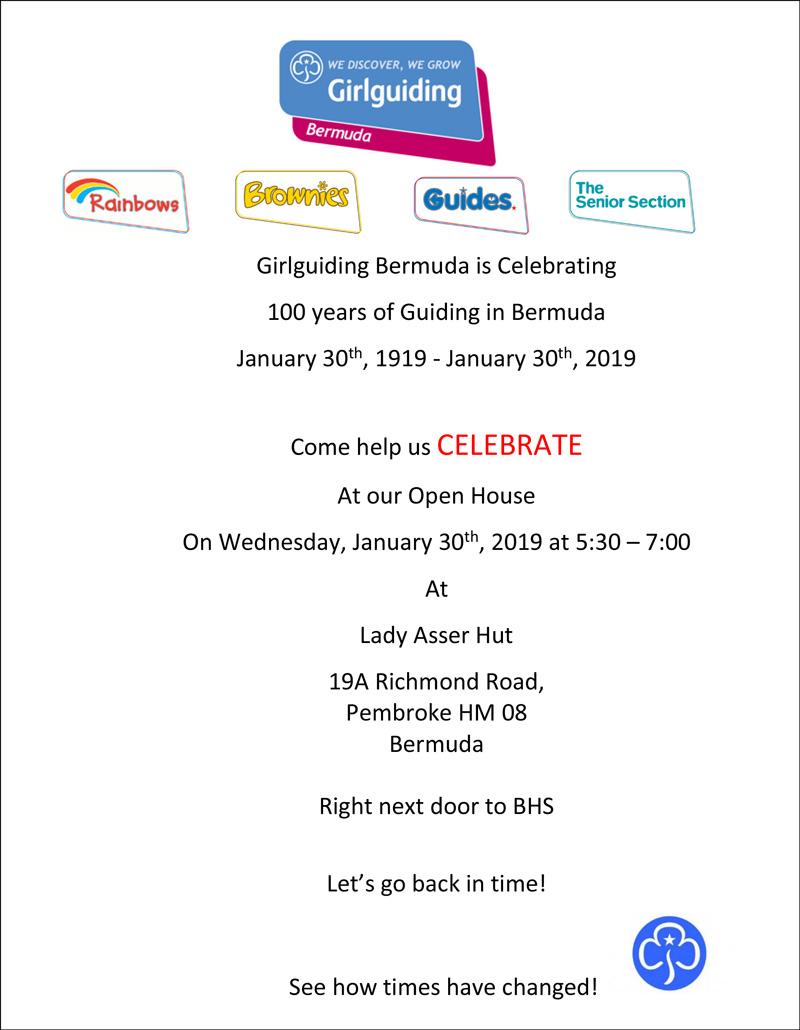 Girlguiding Bermuda 100 yrs1