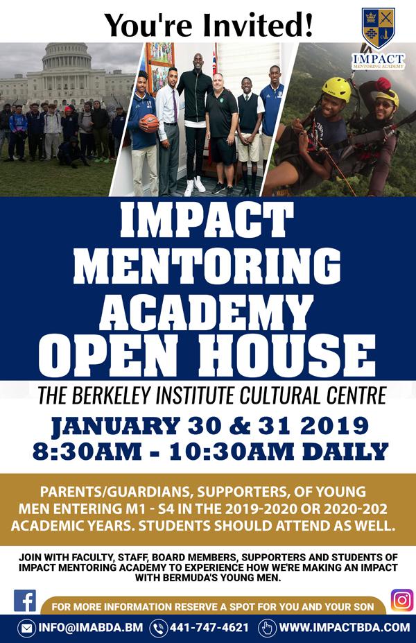 Impact Mentoring Academy Open House Bermuda Jan 24 2019