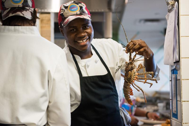 Lejorn Hill, Chef de Partie at Marcus' Bermuda January 2019