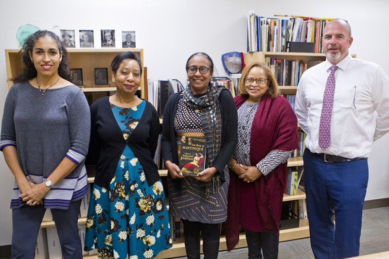 Minister Meets with Writer-in-Residence Bermuda Jan 2019 (1)