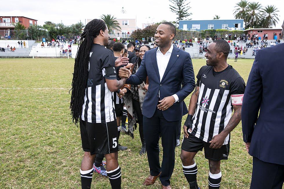 New Years Day Football Premier David Burt Minister Lovitta Foggo Bermuda, January 1 2019 (7)