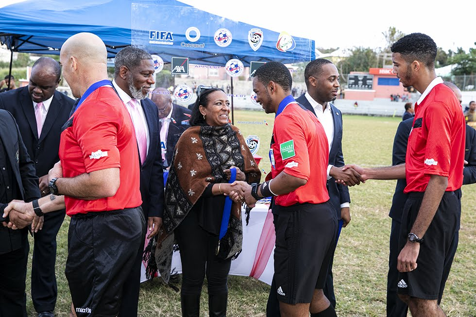 New Years Day Football Premier David Burt Minister Lovitta Foggo Bermuda, January 1 2019 (8)