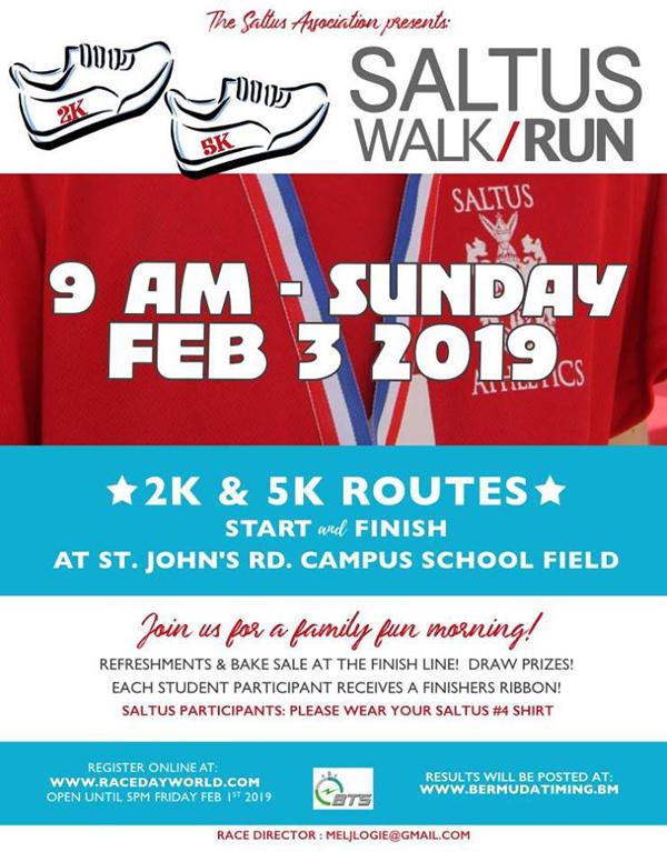 Saltus Run Walk Bermuda February 2019