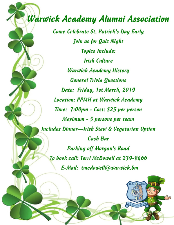 St. Patrick's Day Bermuda March 2019