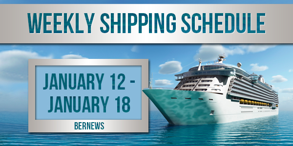Weekly Shipping Schedule TC Jan 12 - 18 2019